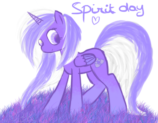 Destiny in purple for spirit day by Lumi-Chu