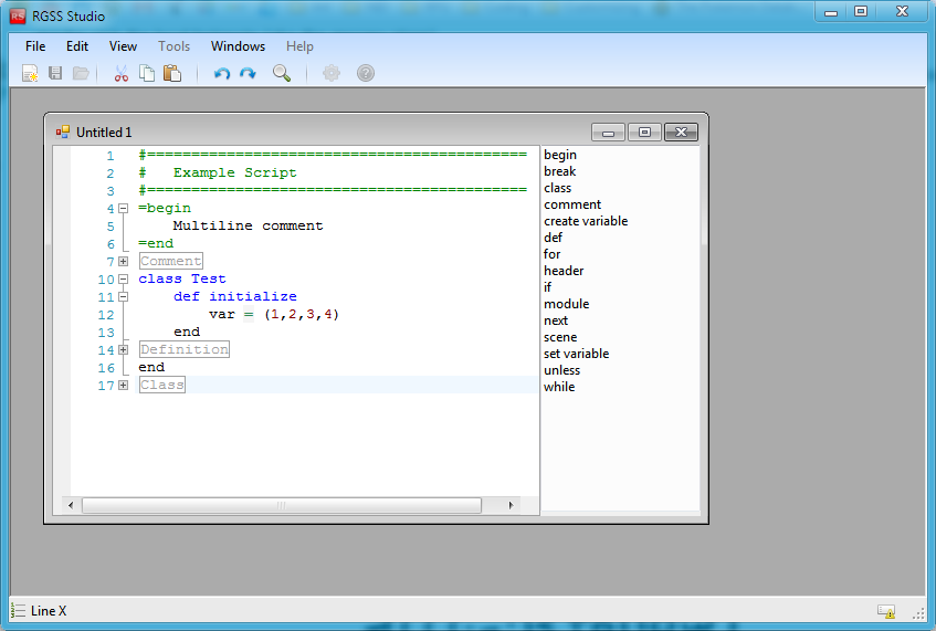 RGSS Studio v0.2 by infinimatum