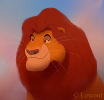 Mighty King Mufasa by Lewont