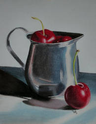 Pitcher of Cherries by ElwynEllessar