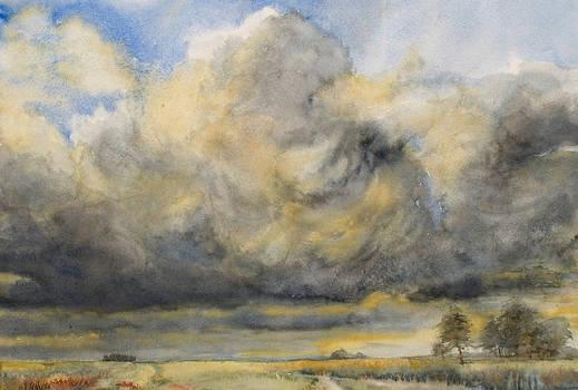 Chmury leniwe na niebie