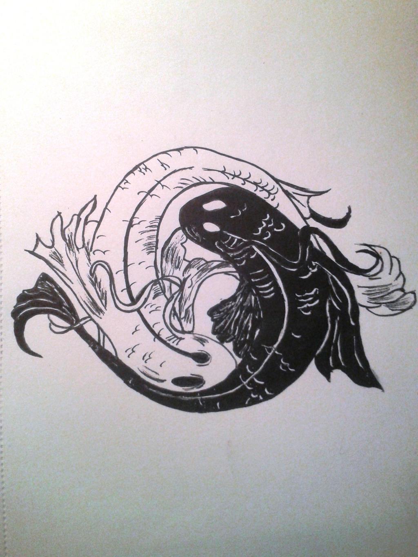 koi fishes  # ying yang by IbrahimCoban