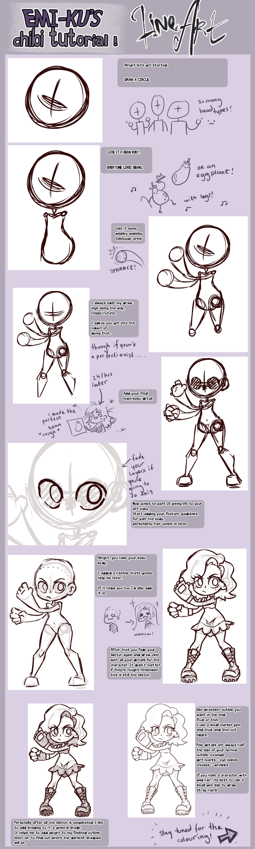 Line Art Tutorial Photo : Chibi tutorial lineart by emi ku on deviantart