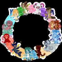 Turtledogs- Zodiac batch (CLOSED) by FluffleBear