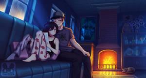 Commission : Ruby hangout night by MurMoruno