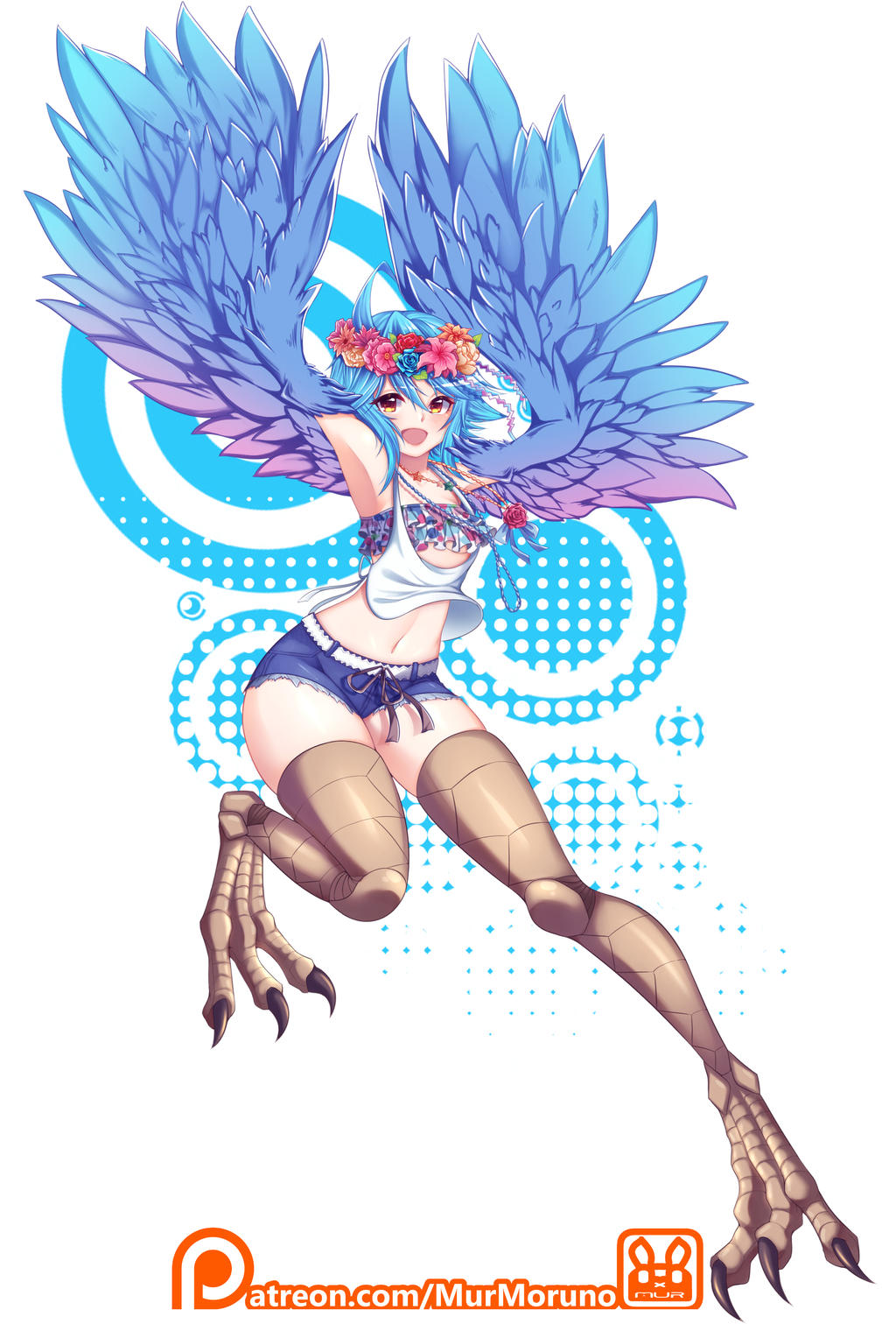 Commission : Papi the Harpy - Monster Musume by MurMoruno