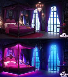 Gothic room - Day and Night