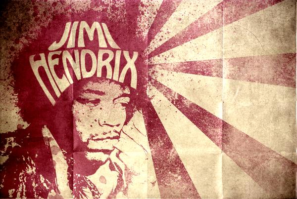 Jimi Hendrix by elcrazy