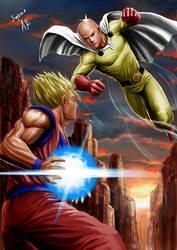 Saitama Vs Goku by arivesaputra