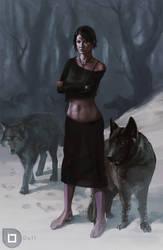 Wolf lady by Du1l