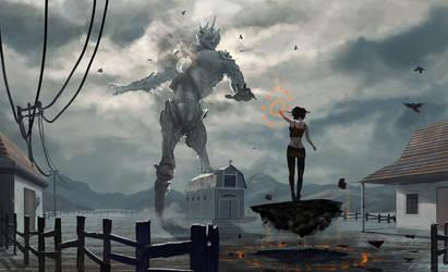 Giant vs Witch by Du1l