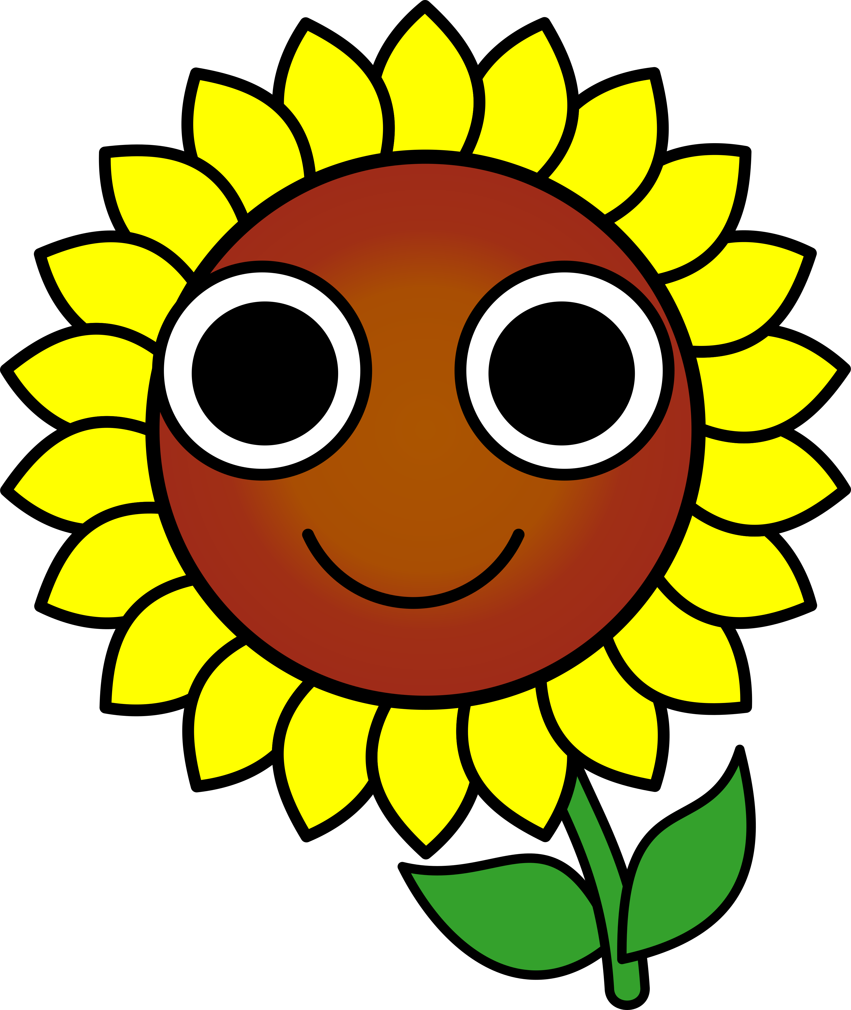 Happy Sunflower Clipart | www.imgkid.com - The Image Kid ...