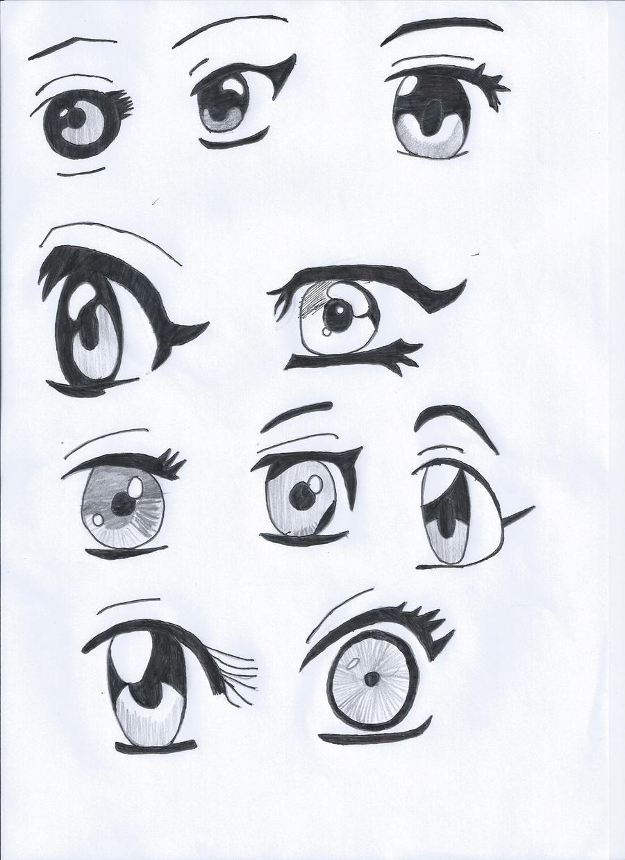 how to draw girl manga eyes