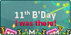 11th B'day: I was there Stamp by UJz