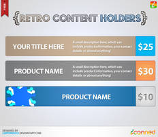 Retro Content Holders by UJz