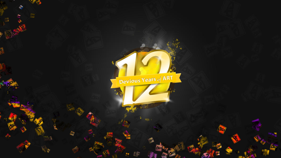 deviantART 12th Birthday Wallpaper by UJz