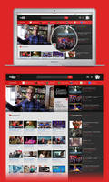 YouTube Homepage (redesign concept) by UJz