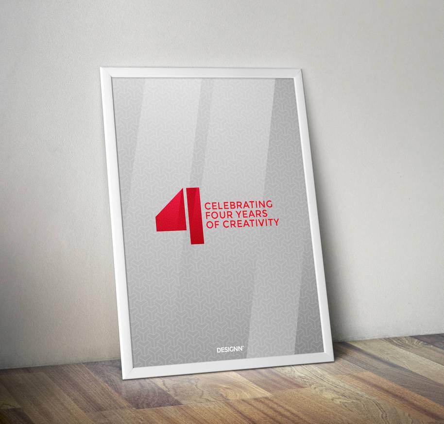 Designn's 4th Anniversary Poster