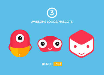 3 Awesome Free Mascots and Logos by UJz