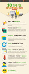 Infographic: 10 Tips For A Great Personal Brand by UJz
