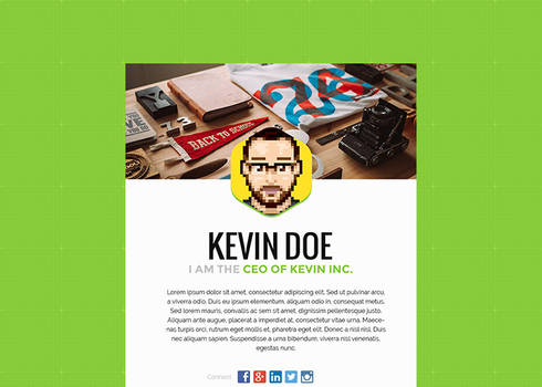 Theme 001 - Free Personal HTML Template