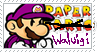 Paper Waluigi stamp by EmotionlessBlue