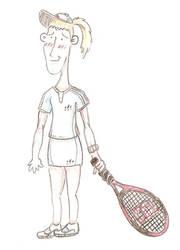 Justine Henin cartoony by Thylazine