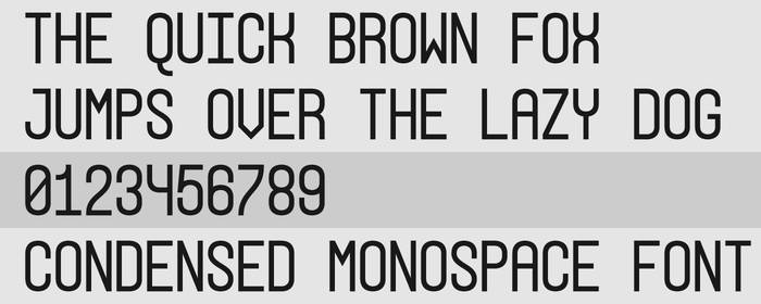 Condensed Monospace Font Preview