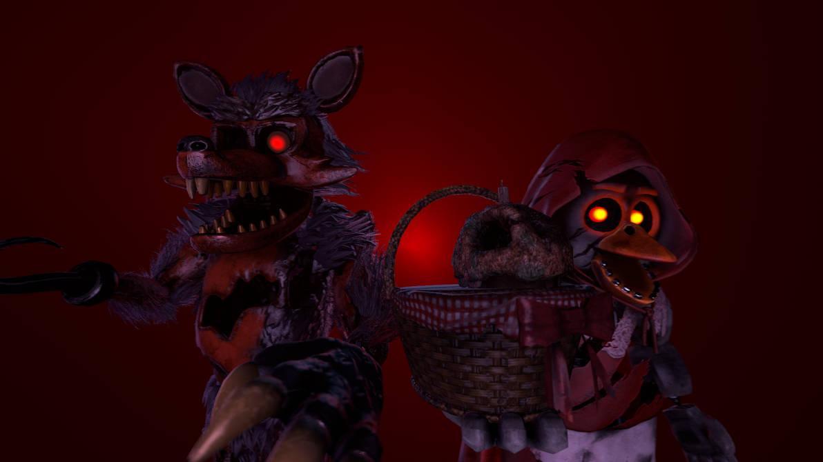 ( FNAF AR SFM ) bigbad wolf Foxy and littlered Chi