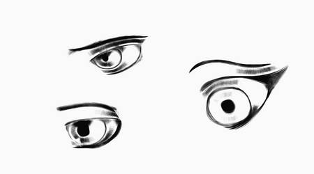 Eye sketches 1 by BlackShadow6202