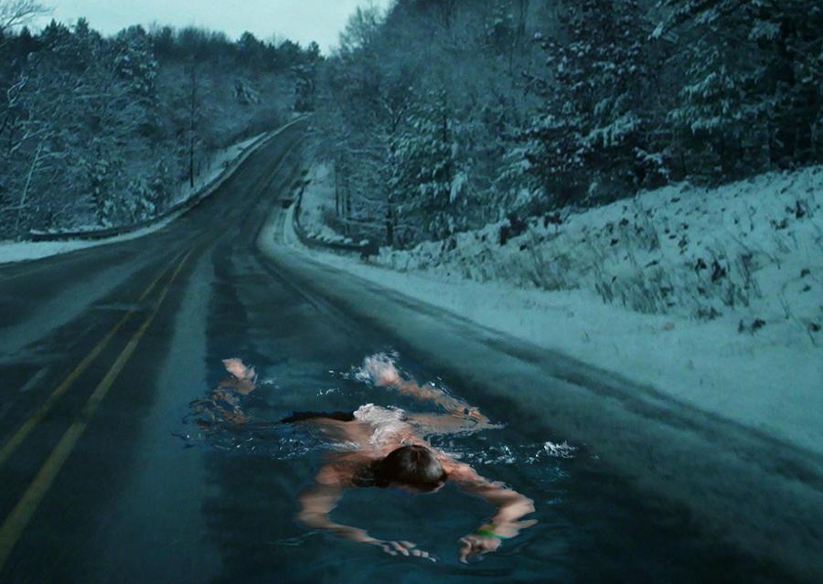 Brave swimmer by oannna