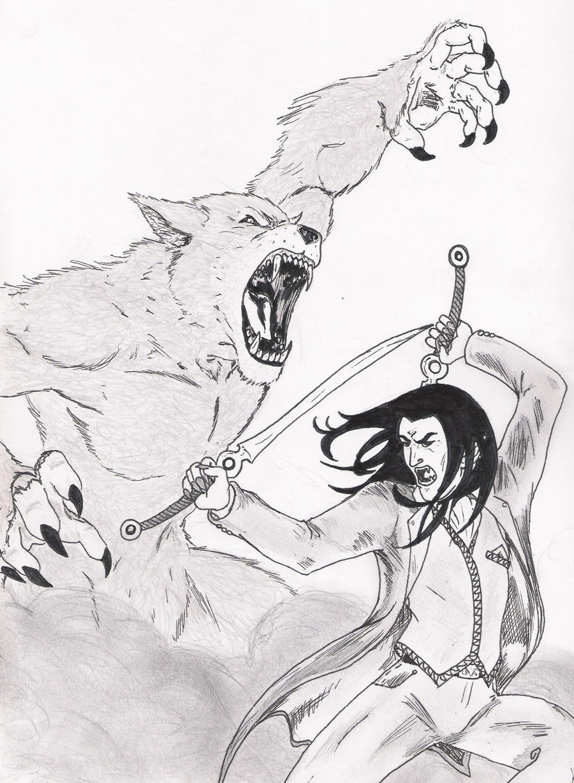 werewolf vs vampire by silverback1 on deviantart