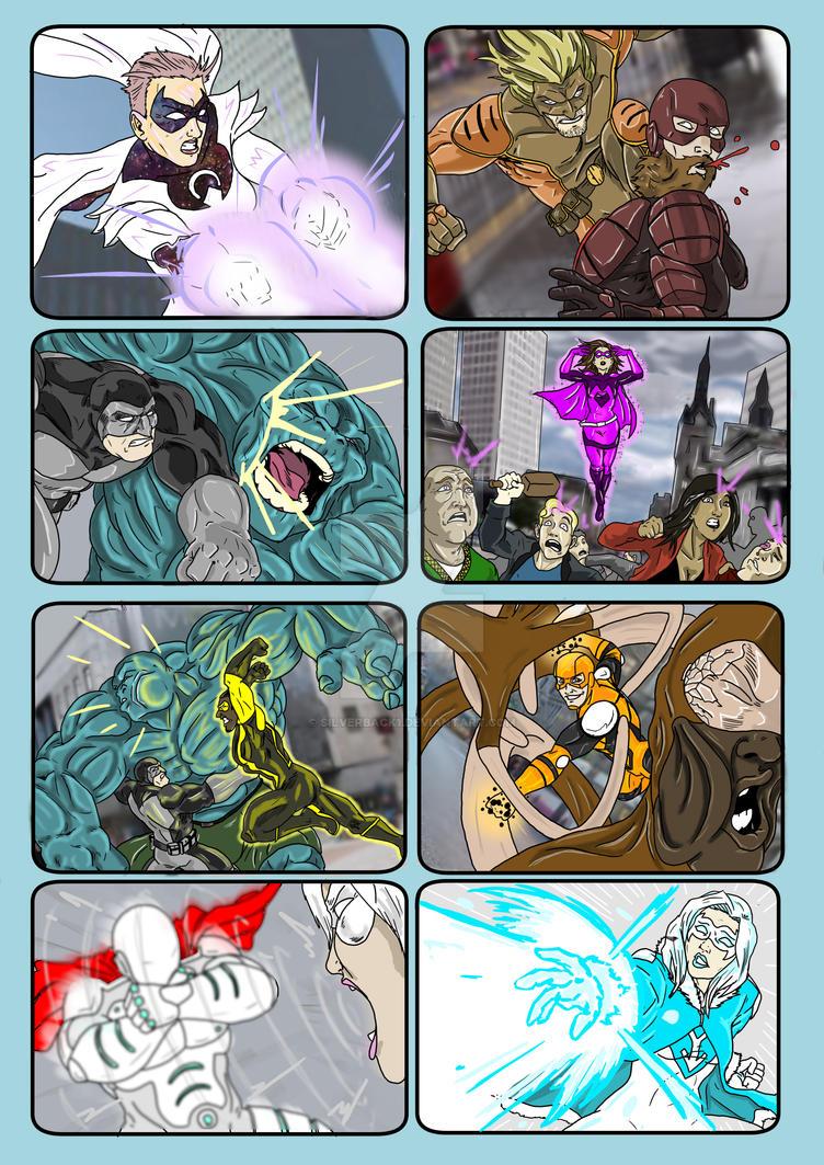 Macronauts news battle (unfinished) by Silverback1