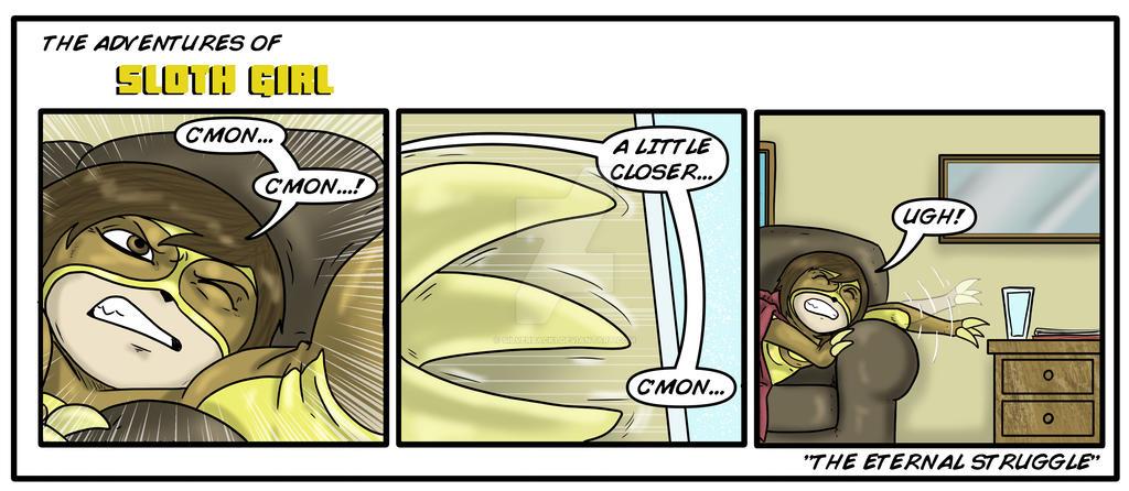 Sloth Girl's eternal struggle by Silverback1