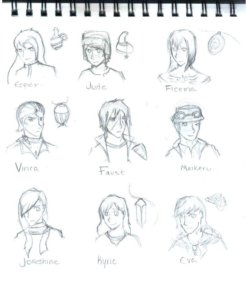 Bird Resurrection OCT -  Character draw by Pochikohaku