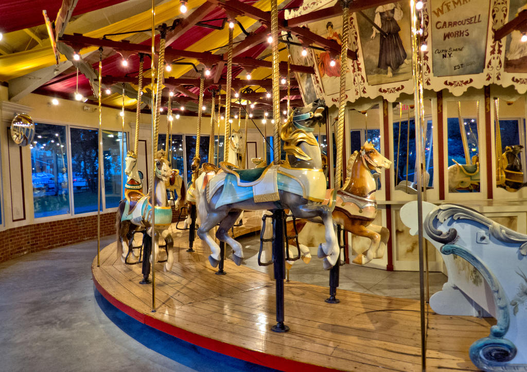 Carousel in Congress Park by funygirl38