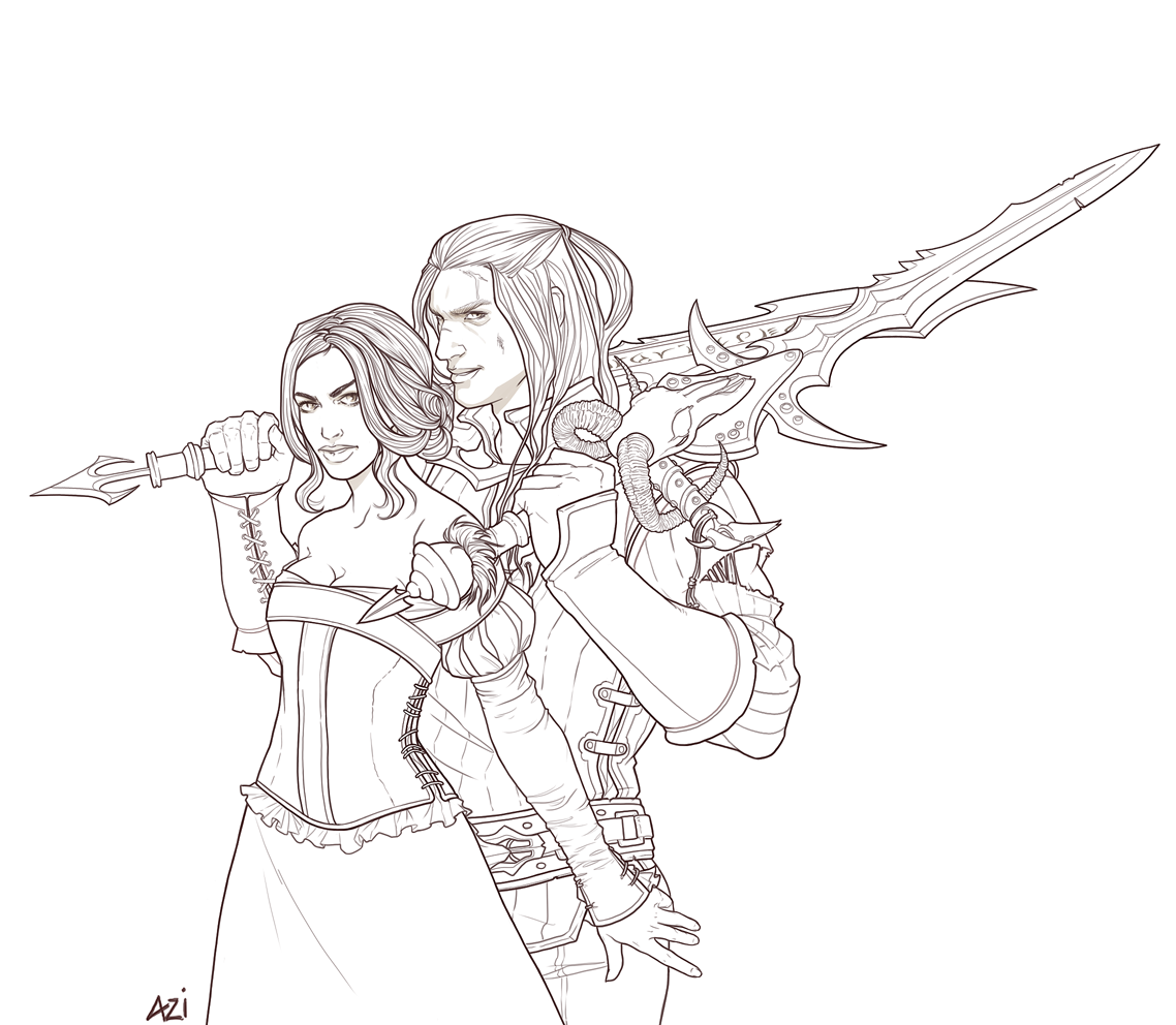 Arthas and Alex ::WIP:: by scourge-minion
