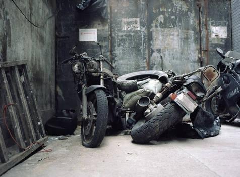Dead bikes in Hong Kong