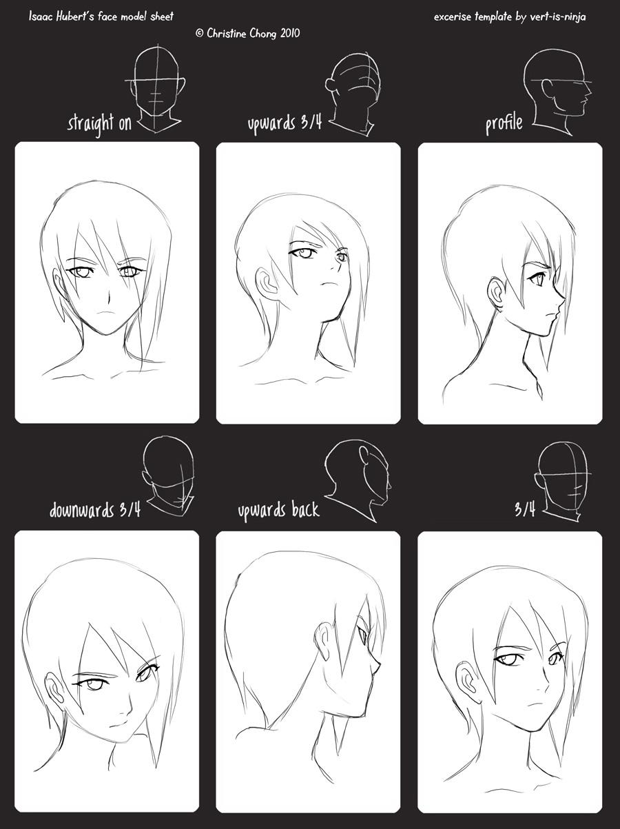 Isaac Face Angle Model Sheet By Mayshing