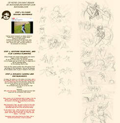 How to draw action fight scene