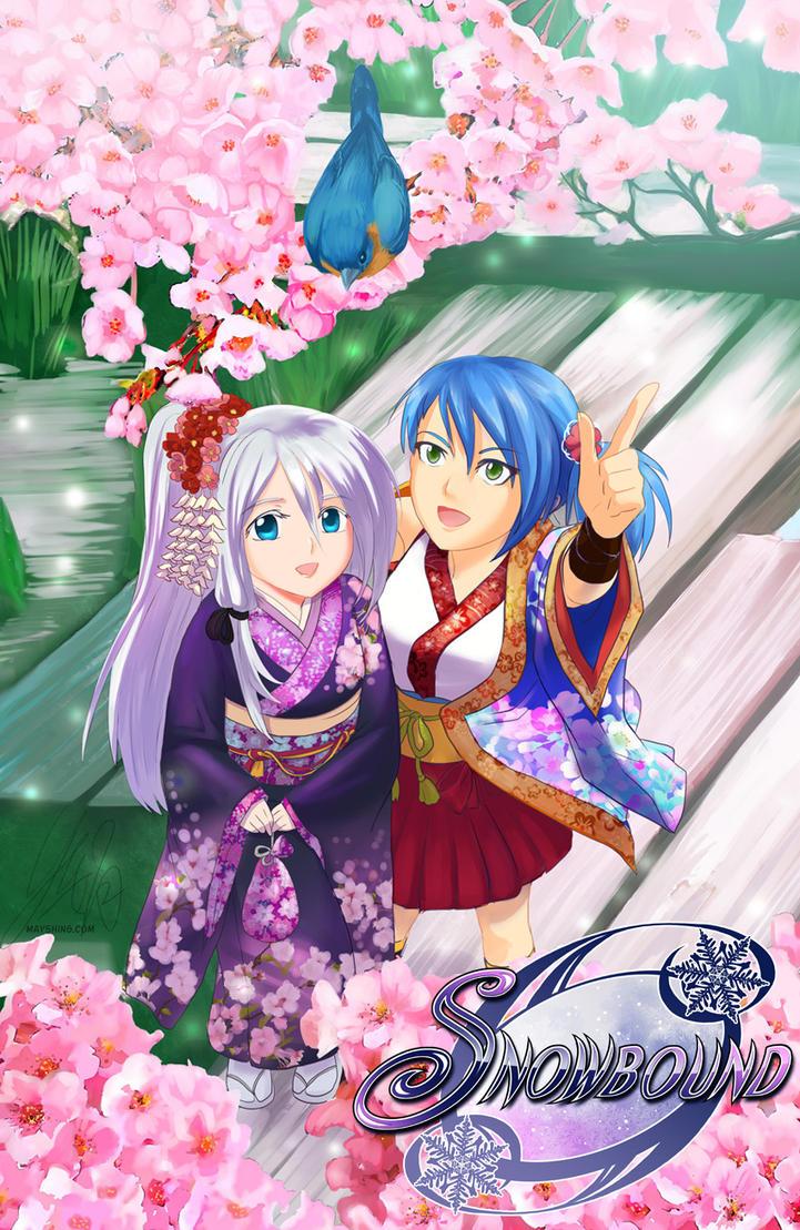 Spring Sakura and girls in kimono by mayshing