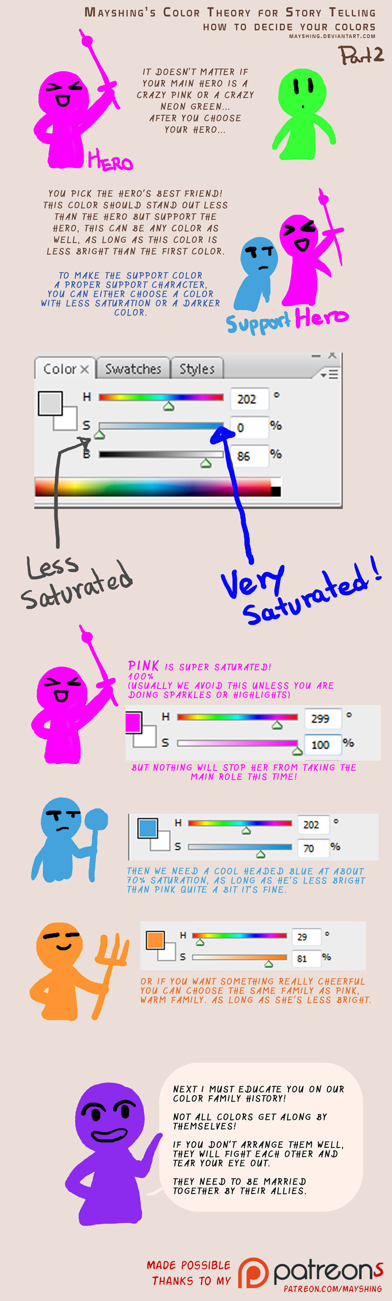 How to pick your colors for storytelling p2 by mayshing