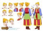 Commission: Golden Sun - Design Dora color sheet