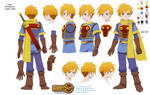 Golden Sun Isaac character sheet for fan anime op