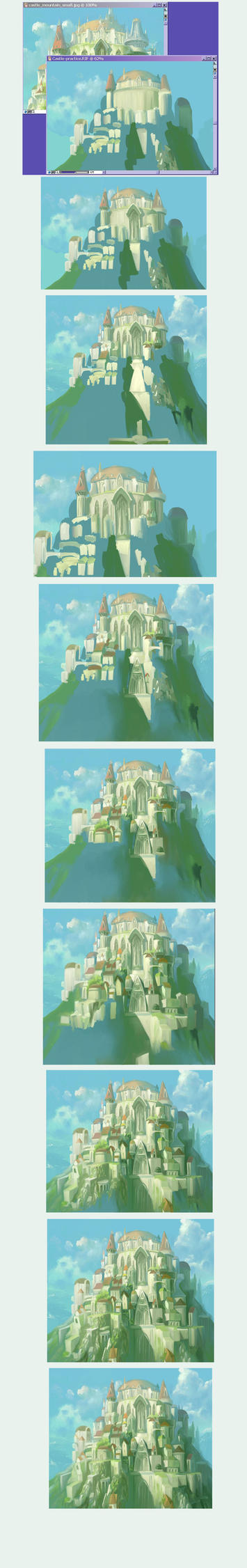 Progress of Prac Castle by mayshing