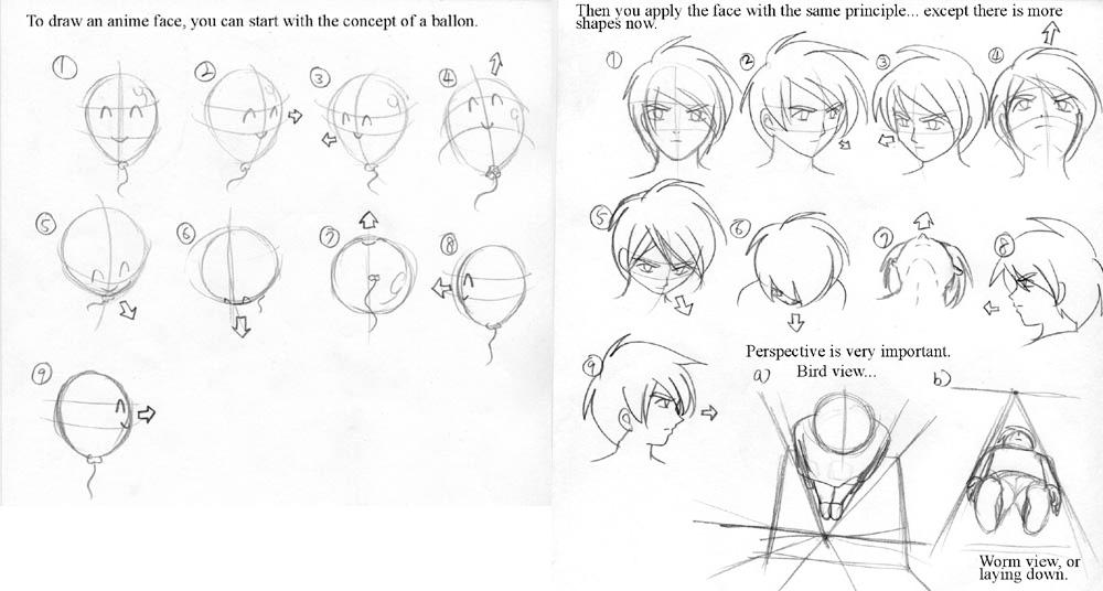 Anime Art Lesson Face Concept By Mayshing