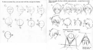 Anime art lesson Face-concept