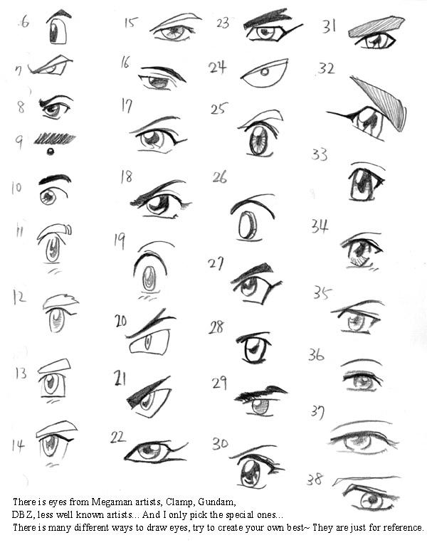 Anime Art Lesson Eye List 1 By Mayshing On DeviantArt