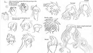 Anime art lesson Hair by mayshing