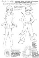 Anime Art lesson M-F Differ by mayshing